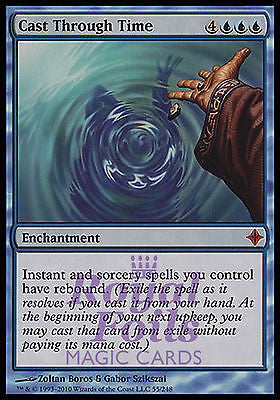 **1x FOIL Cast Through Time ROE MTG Rise of Eldrazi Mythic MINT blue