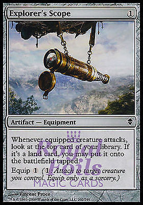 **1x FOIL Explorer's Scope** ZEN MTG Zendikar Common MINT artifact