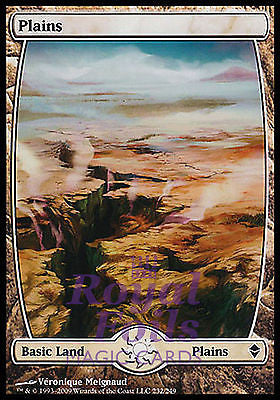**1x FOIL Plains 232** ZEN MTG Zendikar Basic Land MINT white