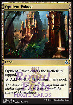 **1x FOIL Opulent Palace MTG KTK Khans of Tarkir Uncom MT black green blue land