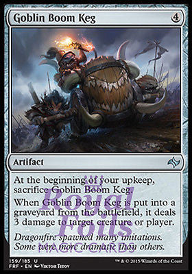 **4x FOIL Goblin Boom Keg** FRF MTG Fate Reforged Uncommon MINT artifact