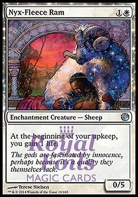 **1x FOIL Nyx-Fleece Ram JOU MTG Journey Into Nyx Uncommon MINT white
