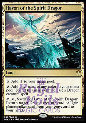**1x FOIL Haven of the Spirit Dragon** DTK MTG Dragons of Tarkir Rare MINT land