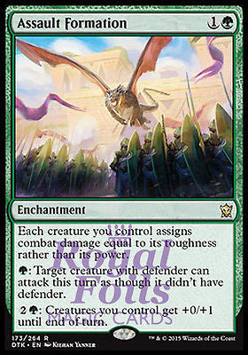 **1x FOIL Assault Formation* DTK MTG Dragons of Tarkir Rare MINT green