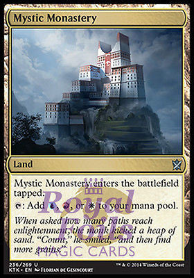 **1x FOIL Mystic Monastery* MTG KTK Khans of Tarkir Uncommon MINT blue red white land