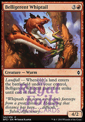 **4x FOIL Belligerent Whiptail BFZ MTG Battle for Zendikar Common MINT red
