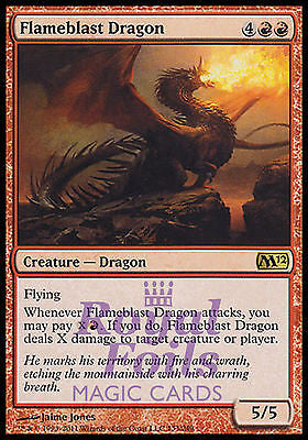 **1x FOIL Flameblast Dragon** MTG M12 Magic 2012 Core Set Rare MINT red