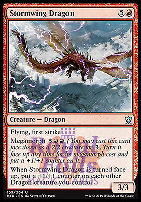 **2x FOIL Stormwing Dragon** DTK MTG Dragons of Tarkir Uncommon MINT red