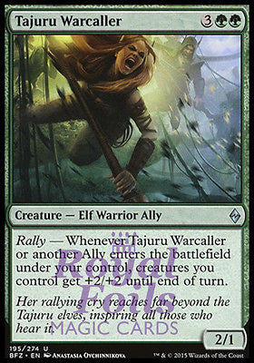 **2x FOIL Tajuru Warcaller** BFZ MTG Battle for Zendikar Uncommon MINT green