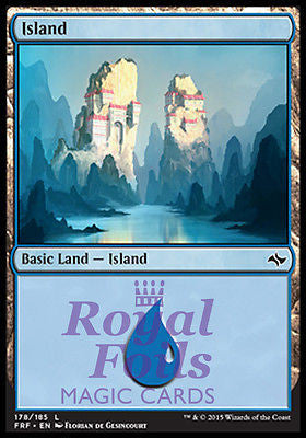 **4x FOIL Island #178** FRF MTG Fate Reforged Basic Land MINT blue