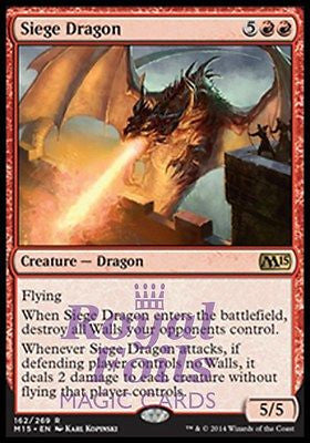 **2x FOIL Siege Dragon** MTG M15 Core Set Rare MINT red