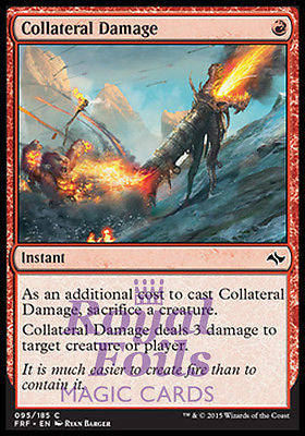 **2x FOIL Collateral Damage** FRF MTG Fate Reforged Common MINT red
