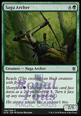 **4x FOIL Sagu Archer** MTG KTK Khans of Tarkir Common MINT green