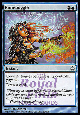 **4x FOIL Runeboggle** GPT MTG Guildpact Common MINT blue