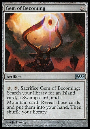 **1x FOIL Gem of Becoming** MTG M13 Core Set Uncommon MINT artifact