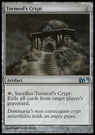 **1x FOIL Tormod's Crypt** MTG M13 Core Set Uncommon MINT artifact