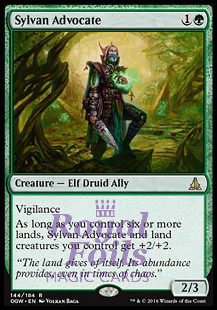 **1x FOIL Sylvan Advocate** OGW MTG Oath of the Gatewatch Rare MINT green