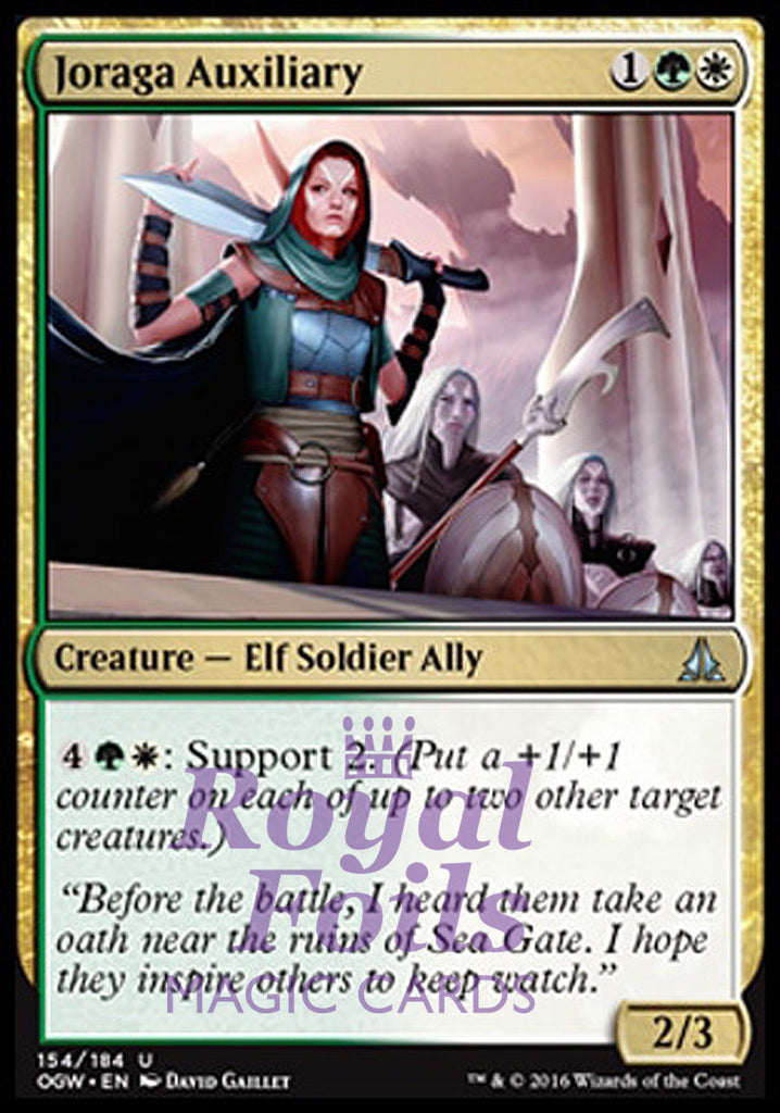 **4x FOIL Joraga Auxiliary OGW MTG Oath of the Gatewatch Uncommon MINT green white