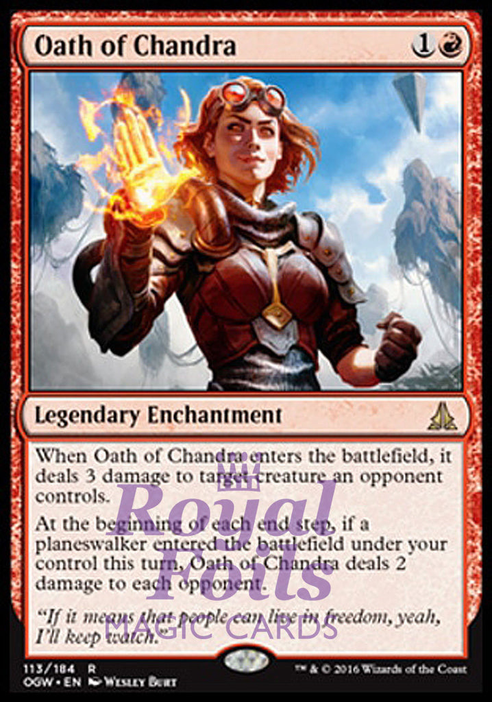 **1x FOIL Oath of Chandra* OGW MTG Oath of the Gatewatch Rare MINT red
