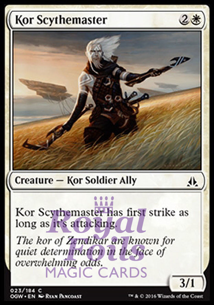 **4x FOIL Kor Scythemaster OGW MTG Oath of the Gatewatch Common MINT white