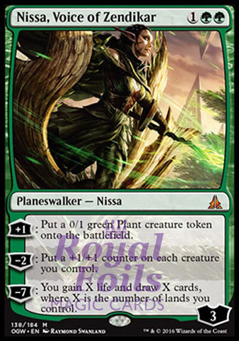 **1x FOIL Nissa Voice of Zendikar* OGW MTG Oath of the Gatewatch Mythic MINT green