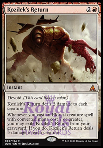 **1x FOIL Kozilek's Return** OGW MTG Oath of the Gatewatch Mythic MINT red