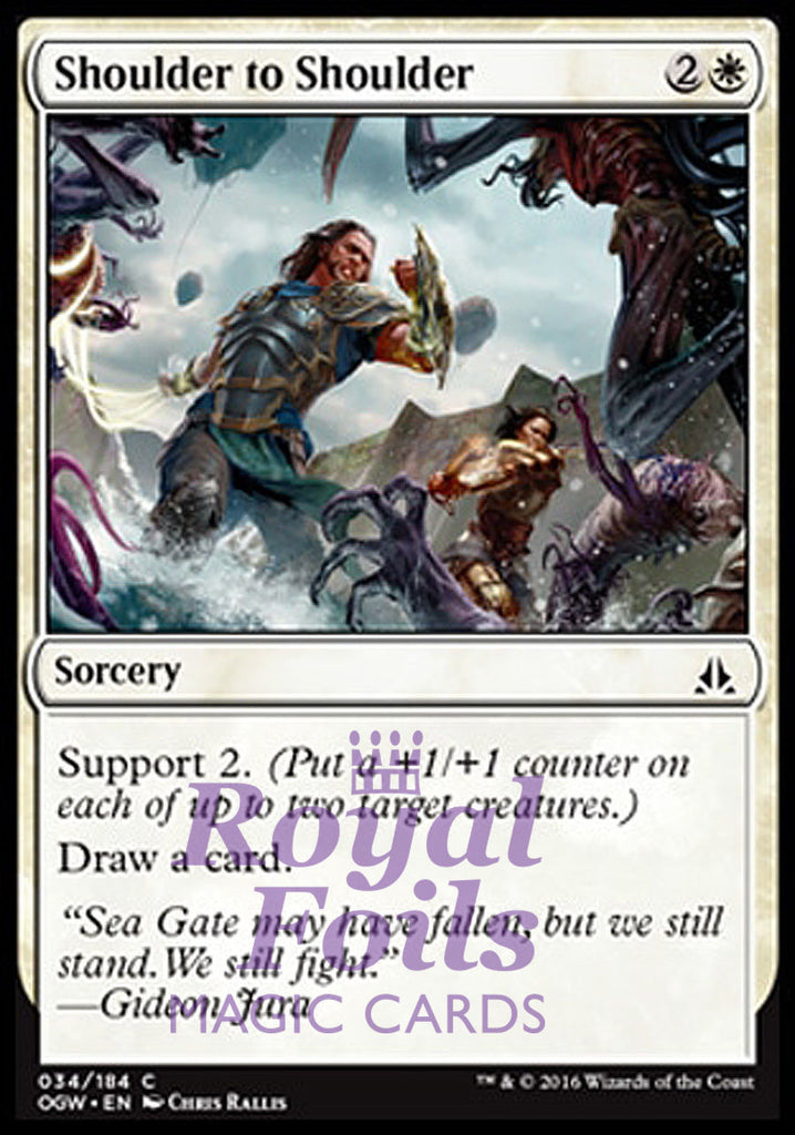**4x FOIL Shoulder to Shoulder** OGW MTG Oath of the Gatewatch Common MINT white