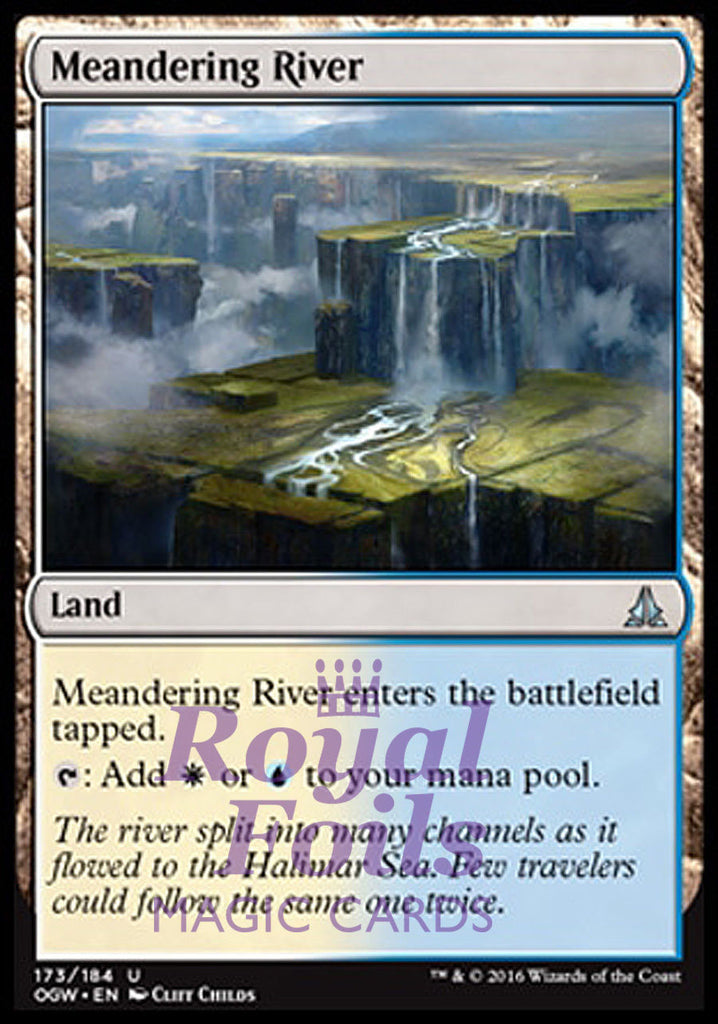 **2x FOIL Meandering River* OGW MTG Oath of the Gatewatch Uncommon MINT white blue