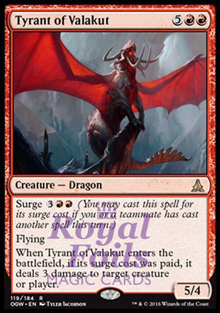 **2x FOIL Tyrant of Valakut** OGW MTG Oath of the Gatewatch Rare NM+ red