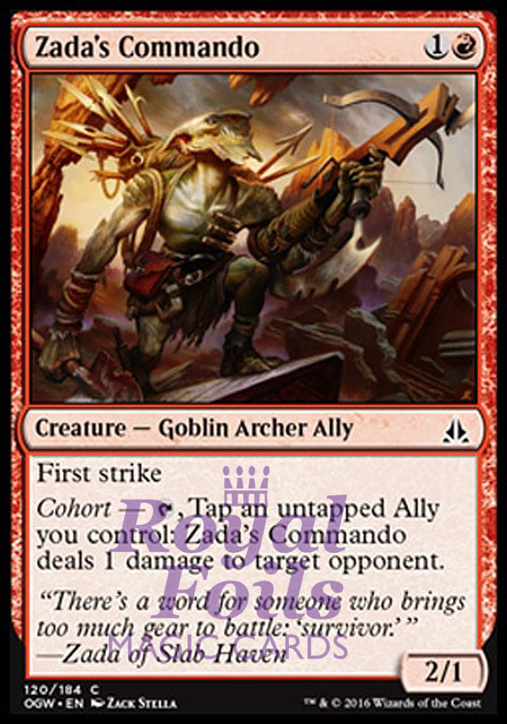 **4x FOIL Zada's Commando** OGW MTG Oath of the Gatewatch Common MINT red