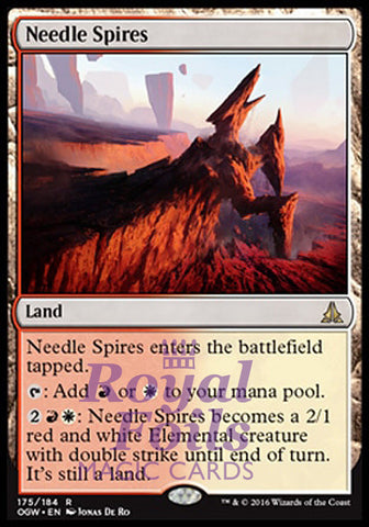 **1x FOIL Needle Spires** OGW MTG Oath of the Gatewatch Rare MINT red white land