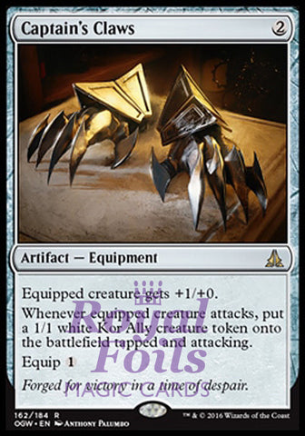 **1x FOIL Captain's Claws** OGW MTG Oath of the Gatewatch Rare NM artifact