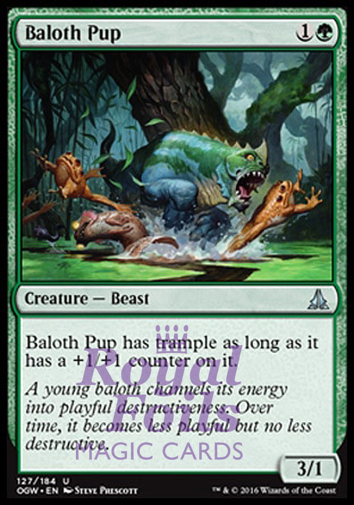 **2x FOIL Baloth Pup** OGW MTG Oath of the Gatewatch Uncommon MINT green