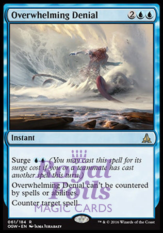 **1x FOIL Overwhelming Denial OGW MTG Oath of the Gatewatch Rare MINT blue
