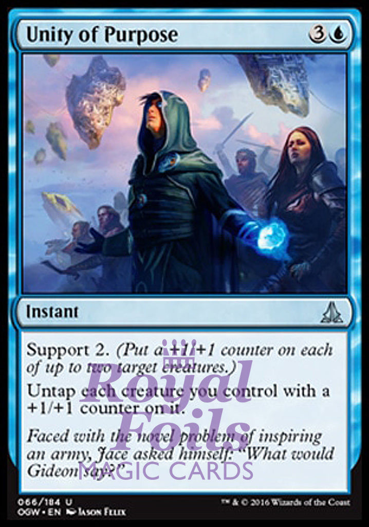 **2x FOIL Unity of Purpose** OGW MTG Oath of the Gatewatch Uncommon MINT blue