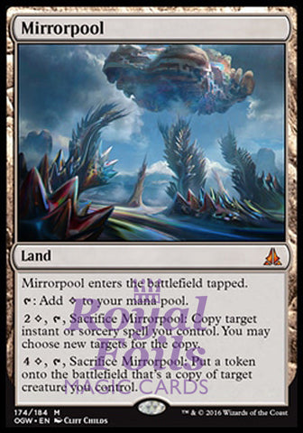 **1x FOIL Mirrorpool** OGW MTG Oath of the Gatewatch Mythic MINT land