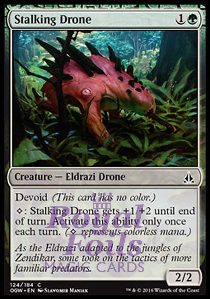 **4x FOIL Stalking Drone** OGW MTG Oath of the Gatewatch Common 2 MT 2 NM+ green