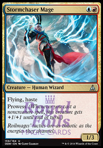 **1x FOIL Stormchaser Mage OGW MTG Oath of the Gatewatch Uncommon VF blue red