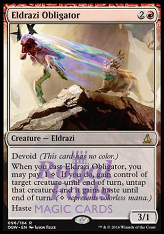 **1x FOIL Eldrazi Obligator** OGW MTG Oath of the Gatewatch Rare NM red
