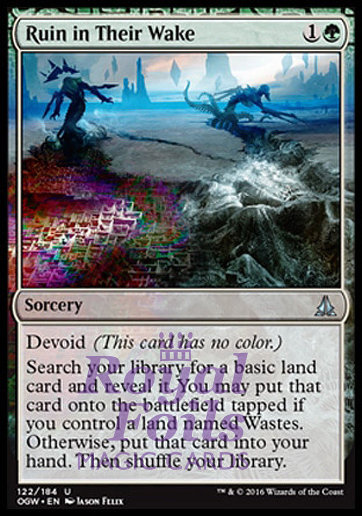 **2x FOIL Ruin in Their Wake** OGW MTG Oath of the Gatewatch Uncommon MINT green