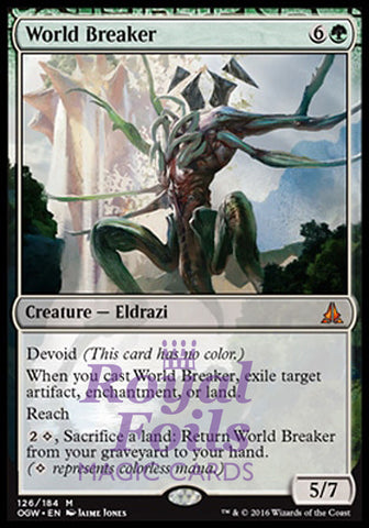 **1x FOIL World Breaker** OGW MTG Oath of the Gatewatch Mythic MINT green