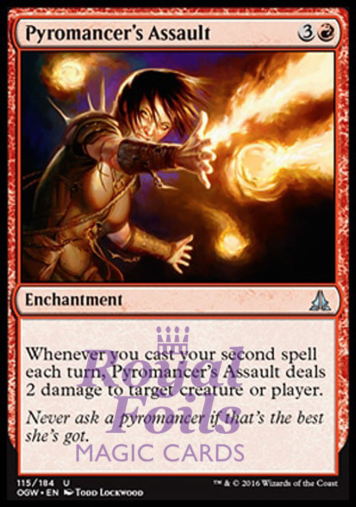 **2x FOIL Pyromancer's Assault** OGW MTG Oath of the Gatewatch Uncommon MINT red