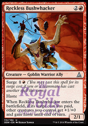 **1x FOIL Reckless Bushwhacker OGW MTG Oath of the Gatewatch Uncommon MINT red
