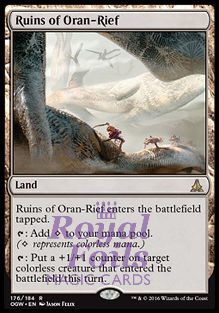 **2x FOIL Ruins of Oran-Rief** OGW MTG Oath of the Gatewatch Rare NM land