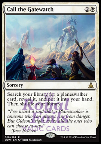 **1x FOIL Call the Gatewatch OGW MTG Oath of the Gatewatch Rare MINT white