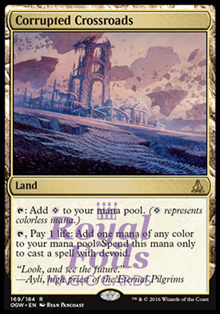 **1x FOIL Corrupted Crossroads** OGW MTG Oath of the Gatewatch Rare MINT land