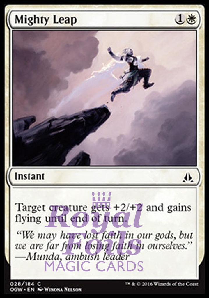 **4x FOIL Mighty Leap** OGW MTG Oath of the Gatewatch Common MINT white