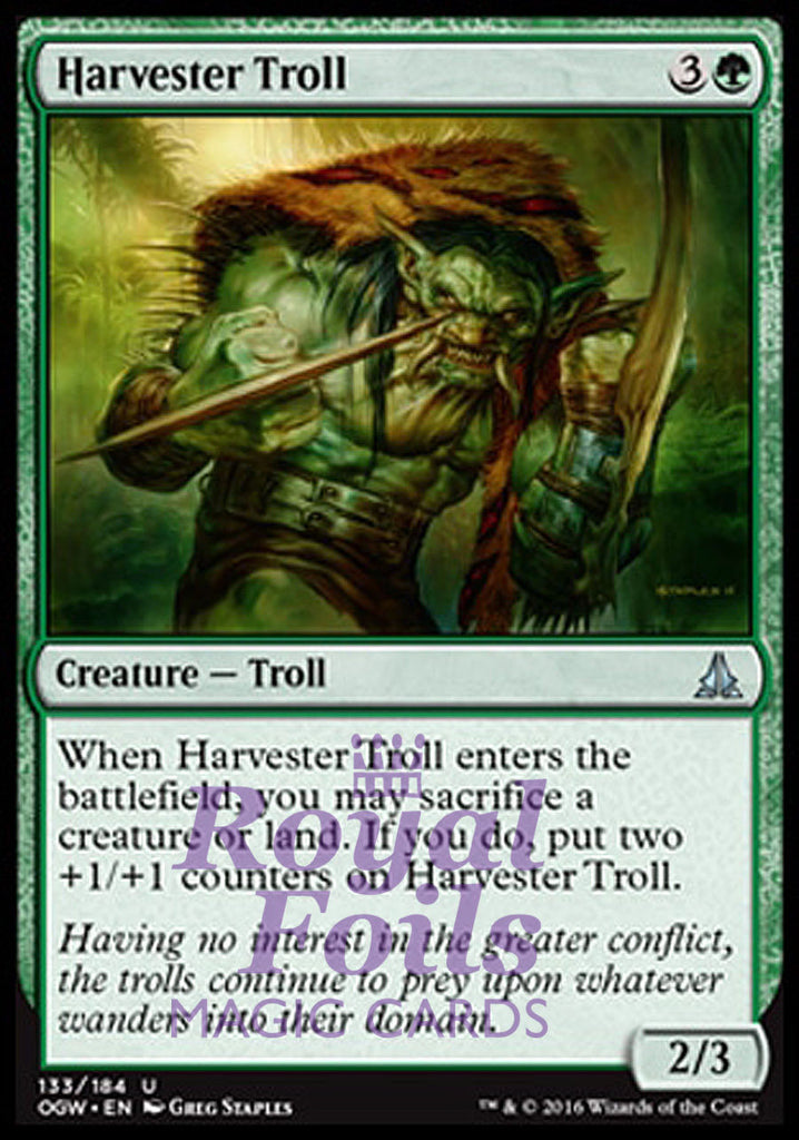 **4x FOIL Harvester Troll** OGW MTG Oath of the Gatewatch Uncommon MINT green