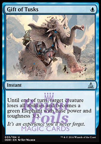 **2x FOIL Gift of Tusks** OGW MTG Oath of the Gatewatch Uncommon MINT blue