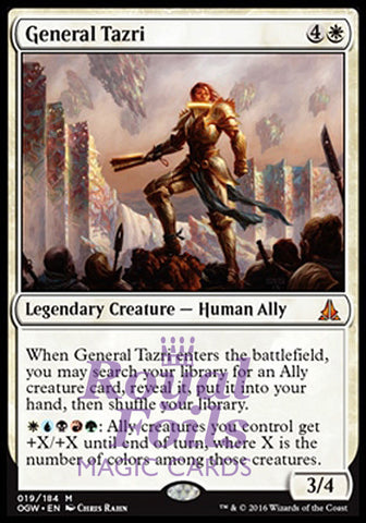 **1x FOIL General Tazri OGW MTG Oath of the Gatewatch Mythic MINT white